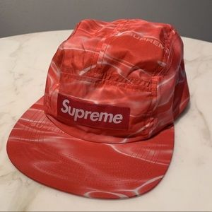 Red washed supreme hat